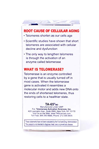 T.A. Sciences   TA-65 30 Caps 100U   Free $99.00 Value   Rg-Cell Concentrated Restorative Serum with EGF &AFA Algae by T.A. Sciences (Image #3)
