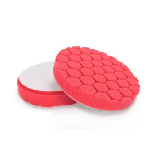 Chemical Guys BUFX_107_HEX6 Hex-Logic Ultra Light Finishing Pad, Red (6 Inch) by Chemical Guys (Image #2)