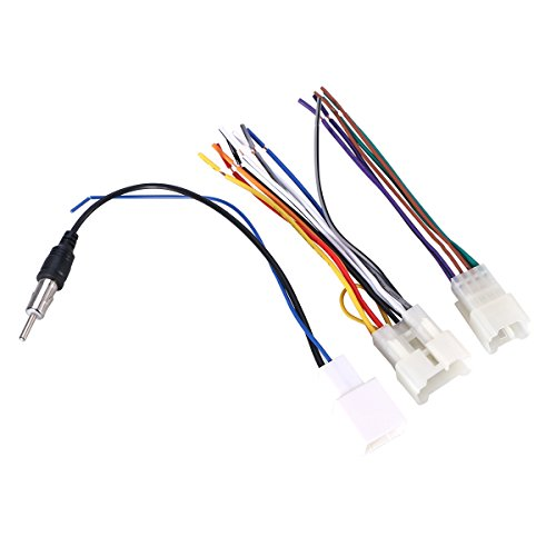 WINOMO 3pcs Car Stereo Connector Radio Wiring Harness for Toyota Camry Corolla