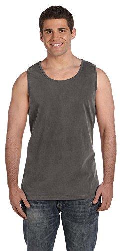 Dyed Cotton Ladies Tank Top - Comfort Colors Ringspun Garment-Dyed Tank, 4XL, PEPPER