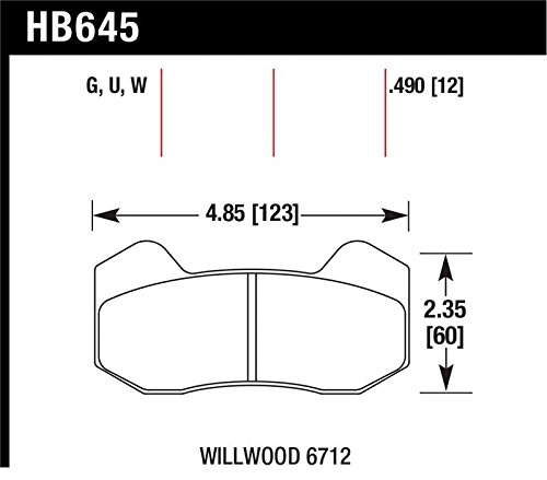 Hawk Wilwood Type 6712 Dtc-60 Brake Pads By Jm Auto Racing