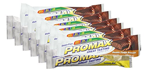 Promax Double Fudge (Promax Protein Bar-Double Fudge Brownie/Lemon Bar-6 of ea (12 Bars Total))
