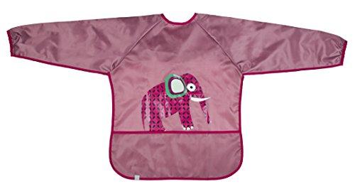 Lassig Art Smock Wildlife Bib Cloth, Elephant/Pink by Lassig