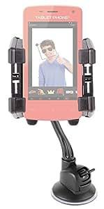 Soporte/fijación con ventosa Antivibrador–para parabrisas y rejilla de ventilación–para Smartphone Lexibook Tablet Phone mfs100fr y teléfono portátil Gru, mi villano favorito gsm20des