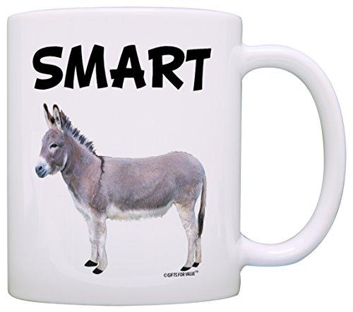 - Smart Ass Smartass Donkey Sarcasm Gag Gift Coffee Mug Tea Cup White
