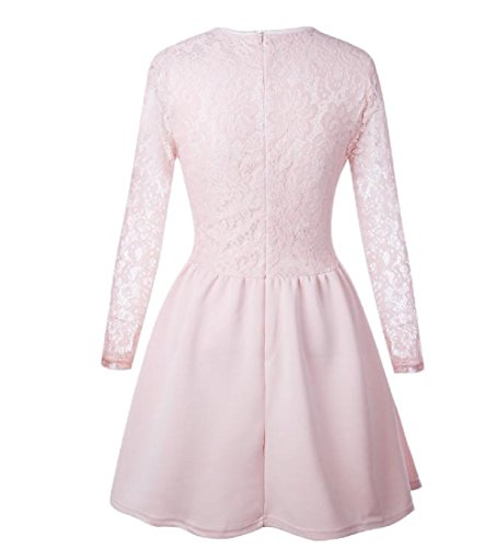 s Pink Line Neck Lace A Scoop Women Sexy Party Hem Coolred Dress zAIqPw