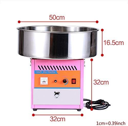 Suikerspinmachine, 50cm elektrische suikerspinmachine, elektrische commerciële suikerspinmachine voor verschillende feesten 1000W roze