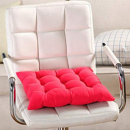 40cmx40cm Chair Seat Cushion Pads with Cord for Patio Home Car Sofa Office Decoration Square Solid - Pad Solid Race Disc