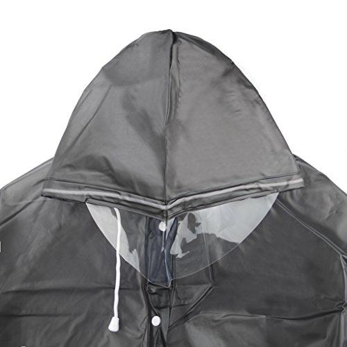 Women Packable EVA Hiking Cycling Hooded Raincoat Travel Rain Cape Jacket Poncho