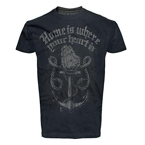 T-Shirt Rock'n'Roll, Rockabilly, Hafen,Tattoo, Sailor, Home Is