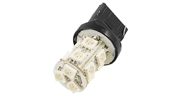 Amazon.com: eDealMax vehículo T20 cuña 5050 SMD 13 LED ámbar señal de parada de la bombilla: Automotive