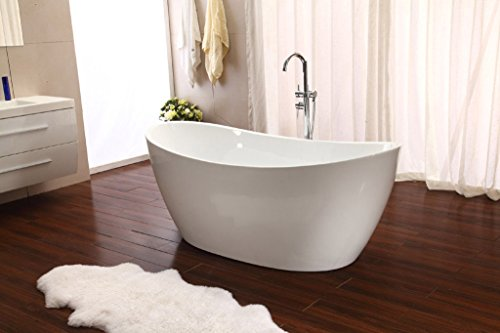 Modern Pedestal Style Soaking Bathtub Tub w/ Floor Standing Faucet (Stainless Steel Soaking Tub)