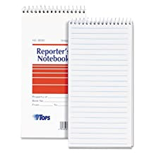 Reporter Notebook, Gregg Rule, 4 x 8, White, 12 70-Sheet Pads/Pack, Sold as 12 Each