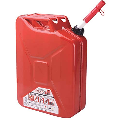 Briggs & Stratton 85043 5 Gallon Spill Proof Metal Gas - Metal Red 5 Gallon