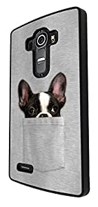 614 - Cute Dog hiding in pocket Design For LG G4 Fashion Trend CASE Back COVER Plastic&Thin Metal