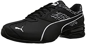 PUMA Men's Tazon 6 Fracture FM Sneaker, Black Black, 7 M US