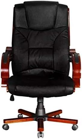 tuduo Chaise Fauteuil de bureau pivotant de bureau Cuir et bois élégant, confortable et simple Chaise Bureau Tabouret bureau