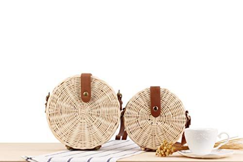 sac INS main rond plage de paquet rotin nouvelle vigne à ronde sac sac oblique tissé en 70nrFgq7w