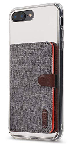 Ringke Flip Card Holder ID Adhesive 3M Premium Stick Fashion Multi-Card Slot Wallet Case Credit Card Cash Pouch Attachment Compatible with Most Smartphones, Android and More - Gray