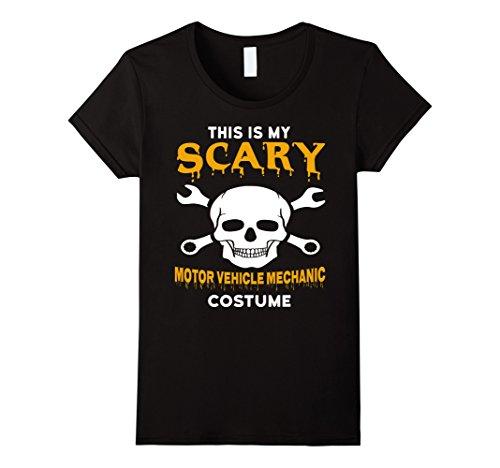 Mechanics Halloween Costume (Womens Scary Motor Vehicle Mechanic Halloween Costume T-Shirt Medium Black)