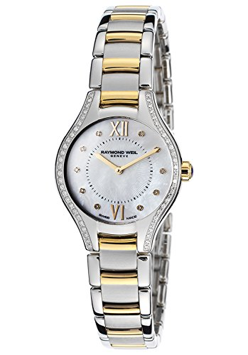 Raymond Weil Women's Noemia Silver-Tone/White Mother of Pearl Stainless Steel and Yellow Pvd Gold Coating Watch