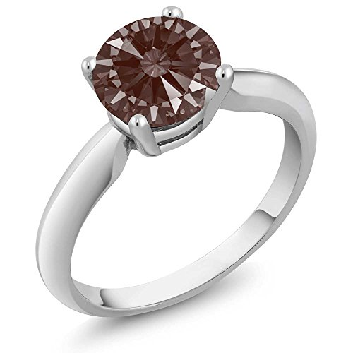 Fancy Brown 925 Sterling Silver Ring Set with Zirconia from Swarovski (Size 7)