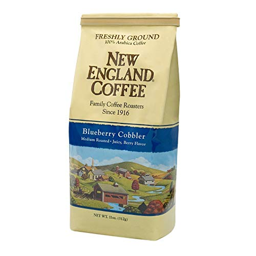 New England Ground Coffee Blueberry Cobbler 11 Oz Bag (Pack of 2)