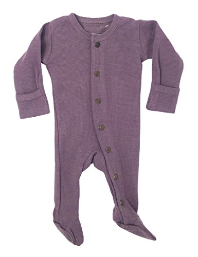 L'ovedbaby Unisex-Baby Organic Cotton Footed Overall (3-6 Months, Thermal Amethyst)