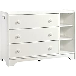 Sauder 421884 Pinwheel Chest, Soft White Finish
