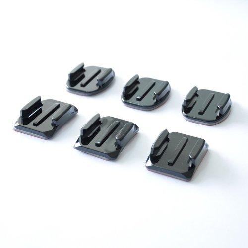 Adhesive Mounts for GoPro Hero Hero2 Hero3 Hero3+, 3 Curved + 3 Flat Mounts