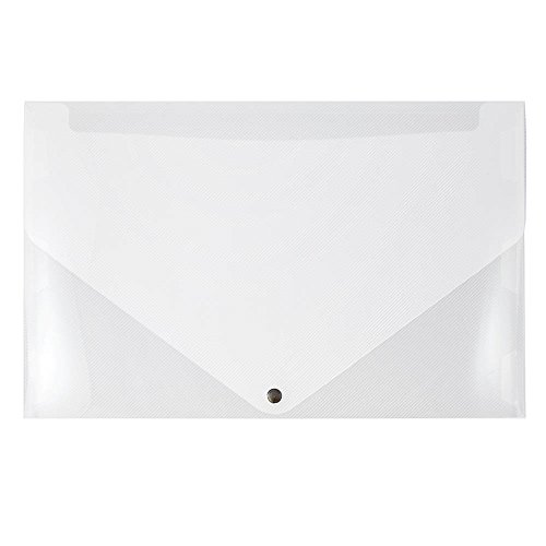 - JAM PAPER Plastic Portfolio with Snap Closure - Large - 11 x 17 x 3/4 - Clear - Sold Individually