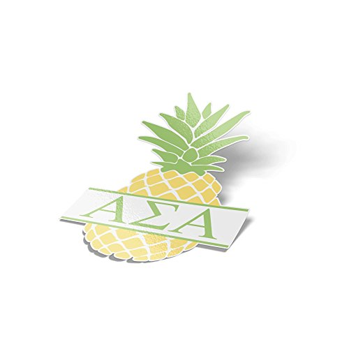 Desert Cactus Alpha Sigma Alpha Pineapple Letter Sticker 4 Inch Tall Sorority Decal Greek for Window Laptop Computer Car ASA