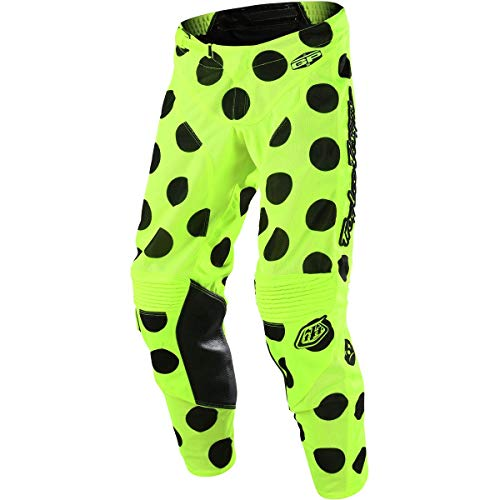 2018 Troy Lee Designs GP Air Polka Dot Pants-Flo Yellow/Black-34