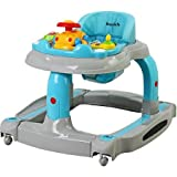 Dream On Me - 2-in-1 Baby Tunes Musical Activity Walker and Rocker with 3-Position Height Adjustment and Removable Toy Tray, GRAY