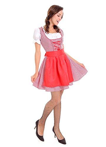 JJ-GOGO German Dirndl Dress - Women 3 Pcs Serving Wench Bavarian Beer Girl Oktoberfest Adult Costume (S/M) ()