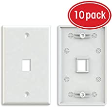 wire your home for ethernet pcworld ethernet wall plate gearit 10 pack 1 port cat6 rj45 wall plate keystone jack white