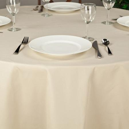 Riegel Premier Hotel Quality Tablecloth, 132'' Round, Beige by riegel