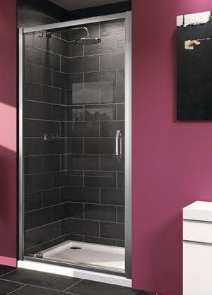 Mampara de ducha Aqua 2: Puerta giratoria, cristal transparente, 6 ...