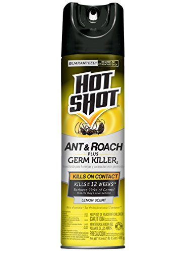 Hot Shot Ant & Roach + Germ Killer (Lemon Scent Aerosol), 17.5-oz, 12-PK Grub Lemon