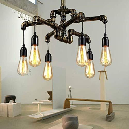 ZLJ Chandelier Light Shades Ceiling Lamp, Vintage Industrial Loft Style Hanging Lamp for Hallway Foyer Kitchen Garage Porch Entryway, 6 Heads