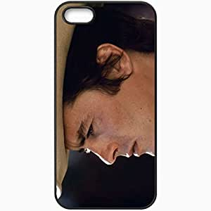 Personalized iPhone 5 5S Cell phone Case/Cover Skin Alain Delon Hat Man Charming Has Black by lolosakes