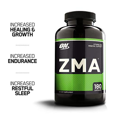 OPTIMUM NUTRITION ZMA Muscle Recovery and Endurance Supplement for Men and Women, Zinc and Magnesium Supplement, 180 Count