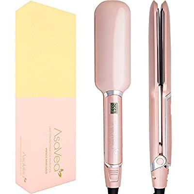 AsaVea Professional Ceramic Hair straightener, Flat Iron with Advanced Infrared Technology Cause Less Damage, Heats Fully In 90 Seconds