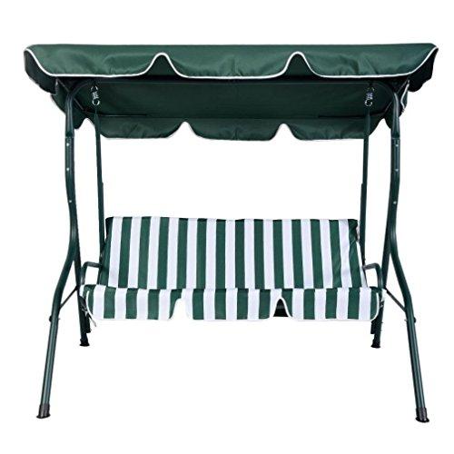 [해외]패션 그린 야외 테라스 스윙 캐노피 3 명 천막 마당 가구 해먹 강철/Fashion Green Outdoor Patio Swing Canopy 3 Person Awning Yard Furniture Hammock St