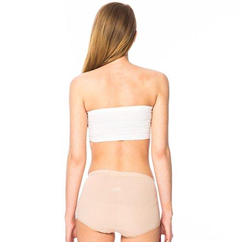 [3] Paquete De Ropa Interior De Algodón Elástico De Alto Calibre Escritos Chica Transpirable Cintura Abdomen Cintura Cadera De La Mujer Pink