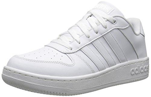 Adidas Neo Court equipo, negro / negro de plata / metálica, 6.5 M US White/White/Metallic Silver
