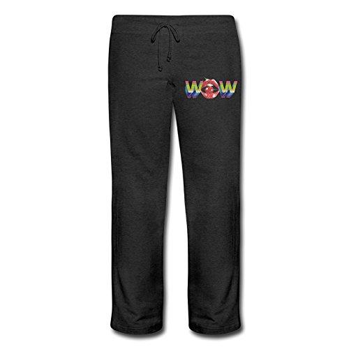 Mens Pants Women Wow Logo Yoga