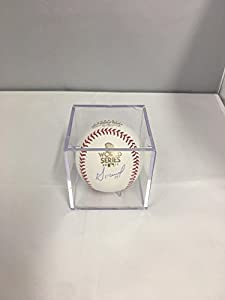 Jose Altuve Autographed Signed Houston Astros Official MLB Baseball WORLD SERIES 2017 BALL Hologram & COA Card With Display Case and photo from signing