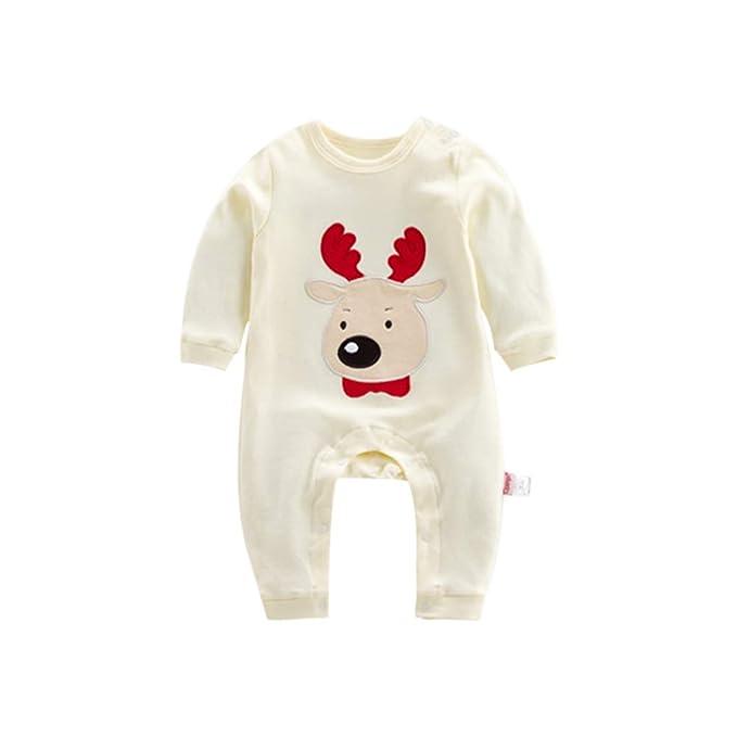 Deylaying Pijama de Algodón para Mono de Bebé - Mameluco de Navidad ...