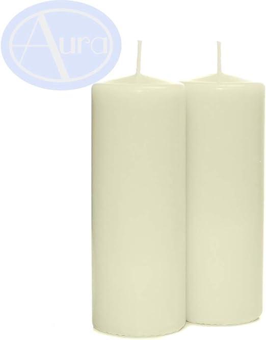 Pack de 2 velas, 60 x 152 mm, color marfil: Amazon.es: Hogar